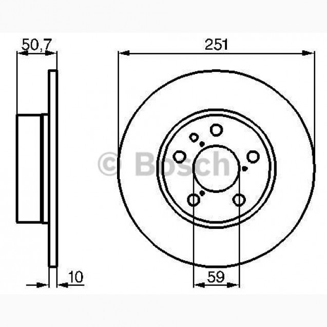 Bosch Тормозной диск/ Alfa Romeo 147