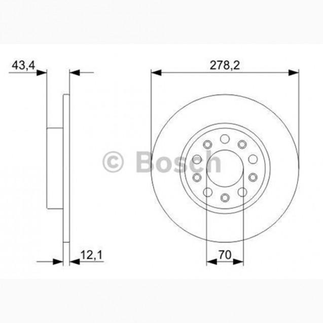 Bosch Тормозной диск/ Alfa Romeo 159
