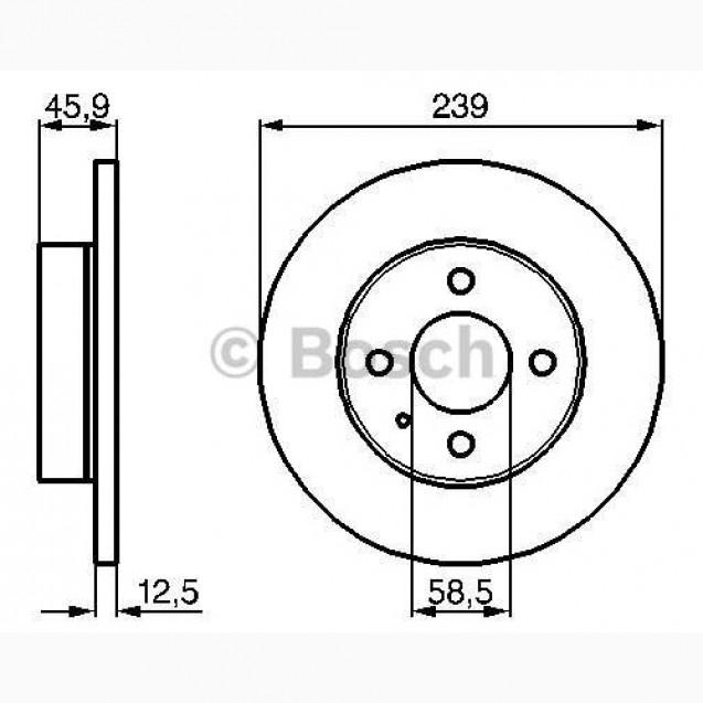 Bosch Тормозной диск/ Alfa Romeo 33