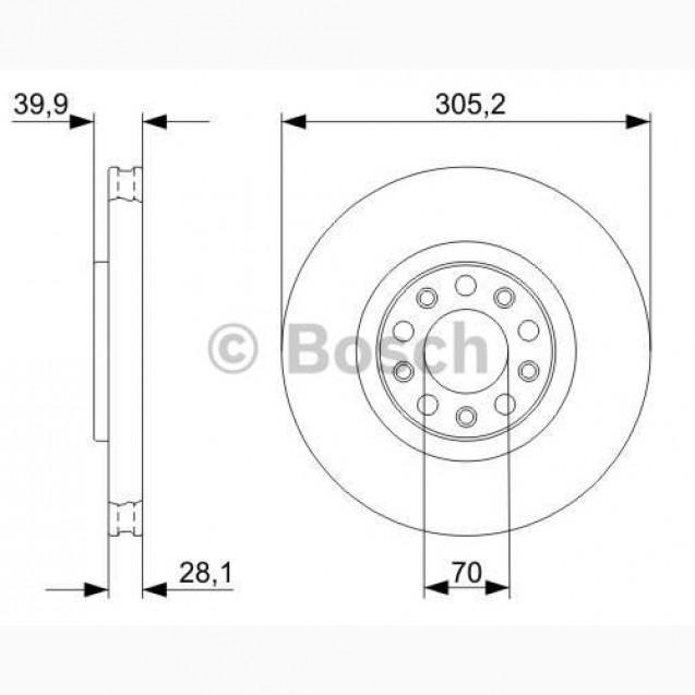 Bosch Тормозной диск/ Alfa Romeo Brera