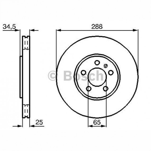 Bosch Тормозной диск/ Audi A1