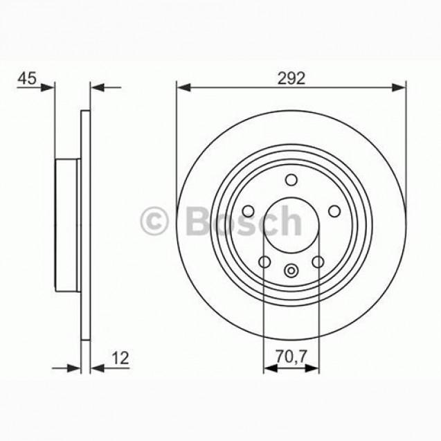 Bosch Тормозной диск/ Chevrolet Cruze