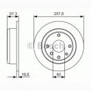 Bosch Тормозной диск/ Chevrolet Lacetti