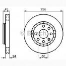Bosch Тормозной диск/ DAEWOO Nexia