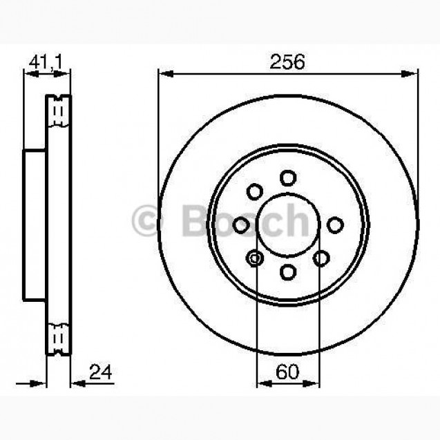 Bosch Тормозной диск/ DAEWOO Nubira