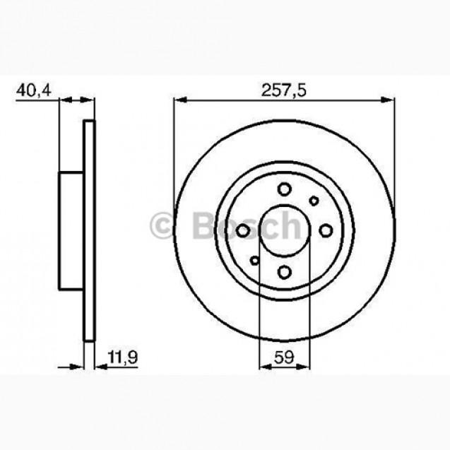 Bosch Тормозной диск/ Fiat BRAVA