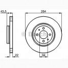Bosch Тормозной диск/ Fiat Doblo