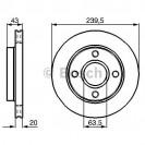 Bosch Тормозной диск/ Ford Escort Classic