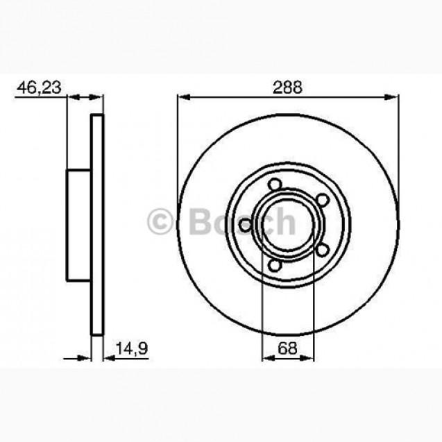 Bosch Тормозной диск передний/ Audi 100