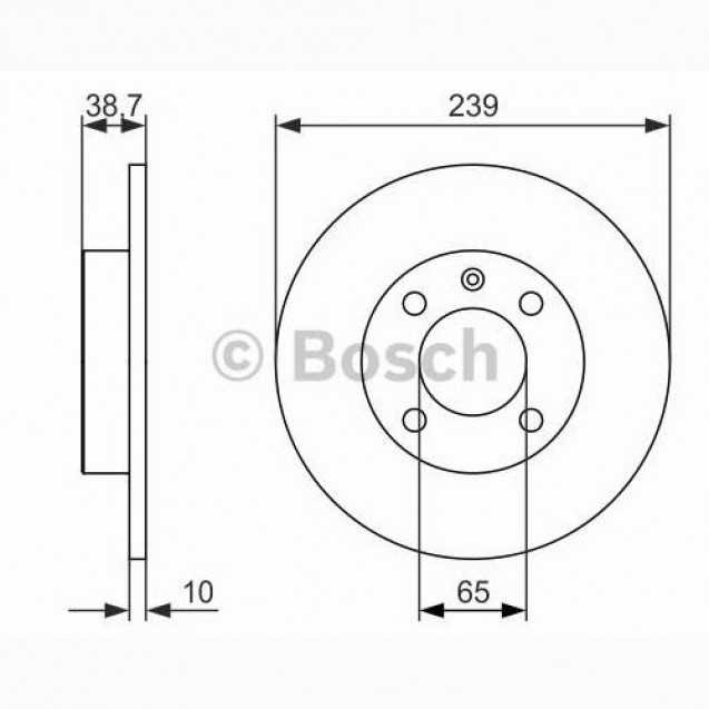 Bosch Тормозной диск передний/ Audi 80