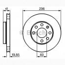 Bosch Тормозной диск передний/ Chevrolet Aveo
