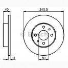 Bosch Тормозной диск передний/задний/ Alfa Romeo 146