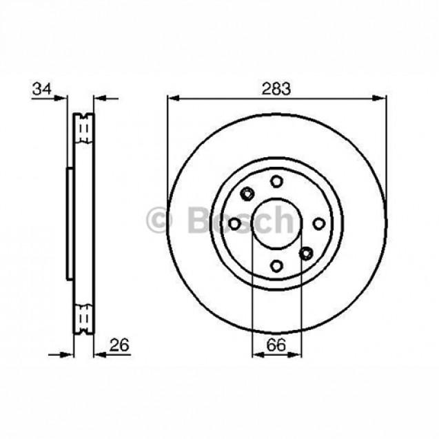 Bosch Тормозной диск/ Peugeot 2008