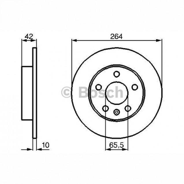 Bosch Тормозной диск задний/ Opel Astra G