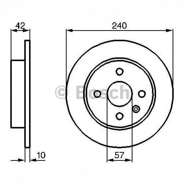 Bosch Тормозной диск задний/ Opel Astra H