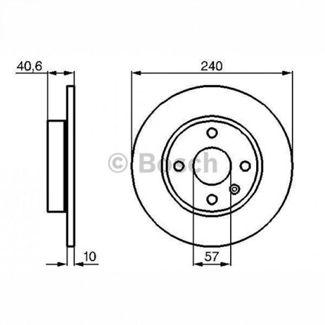 Bosch Тормозной диск задний/ Opel Corsa C