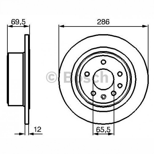 Bosch Тормозной диск задний/ Opel Omega B