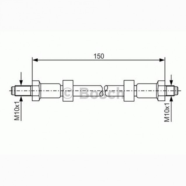 Bosch Тормозной шланг/ Audi 200