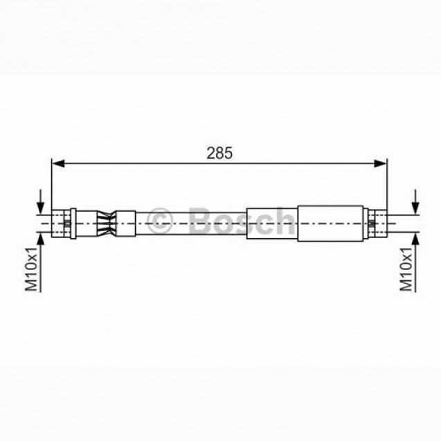 Bosch Тормозной шланг/ Audi 80