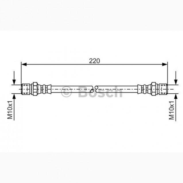 Bosch Тормозной шланг/ DAEWOO Lanos