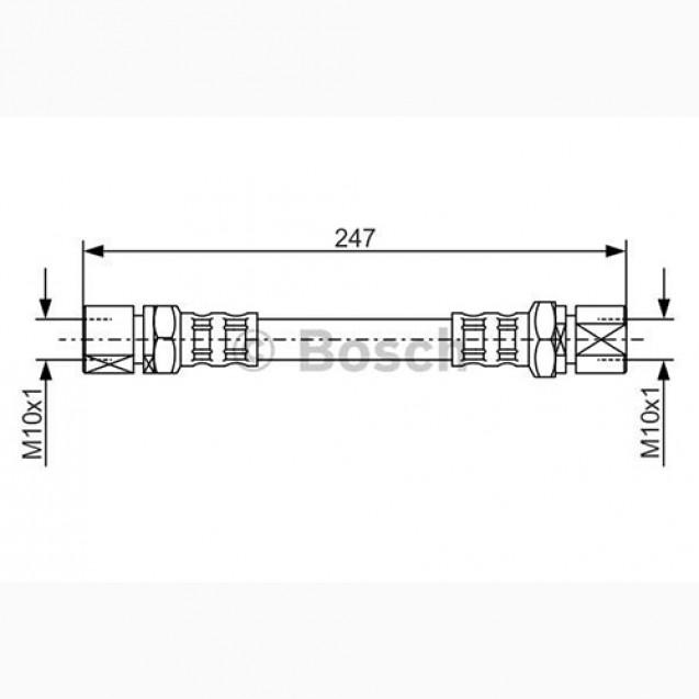 Bosch Тормозной шланг/ DAEWOO Nubira