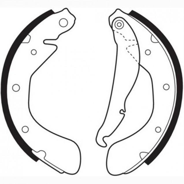 Ferodo Тормозные колодки барабанные/ Chevrolet Lacetti