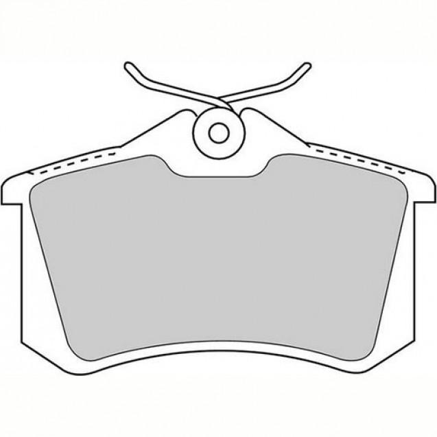 Ferodo Тормозные колодки дисковые/ Audi A1