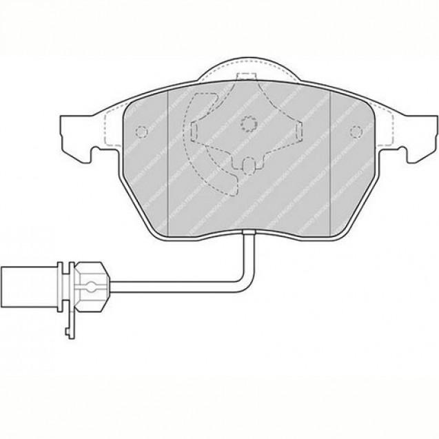 Ferodo Тормозные колодки дисковые/ Audi A6