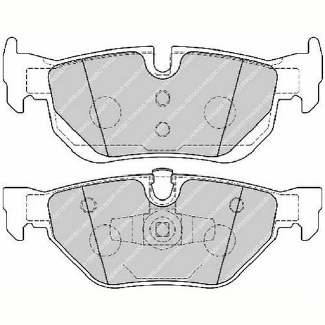 Ferodo Тормозные колодки дисковые/ BMW 1