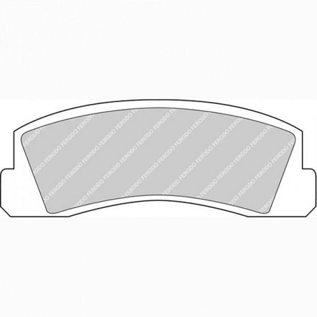 Ferodo Тормозные колодки дисковые/ Chevrolet Niva