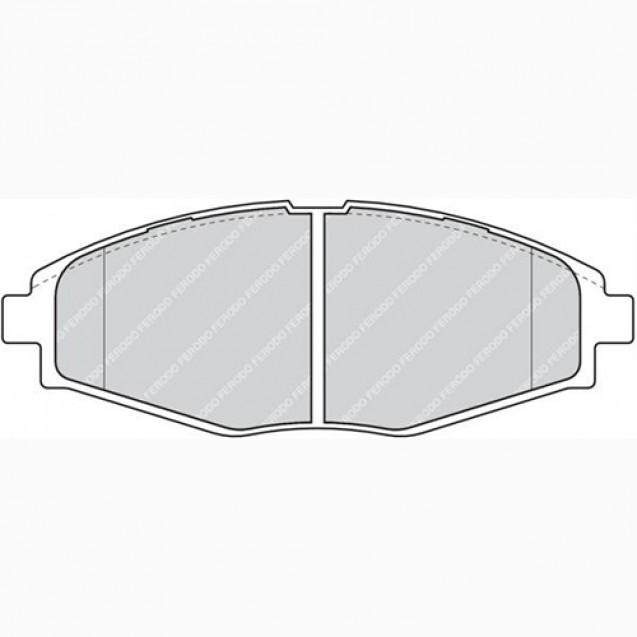 Ferodo Тормозные колодки дисковые/ DAEWOO Lanos