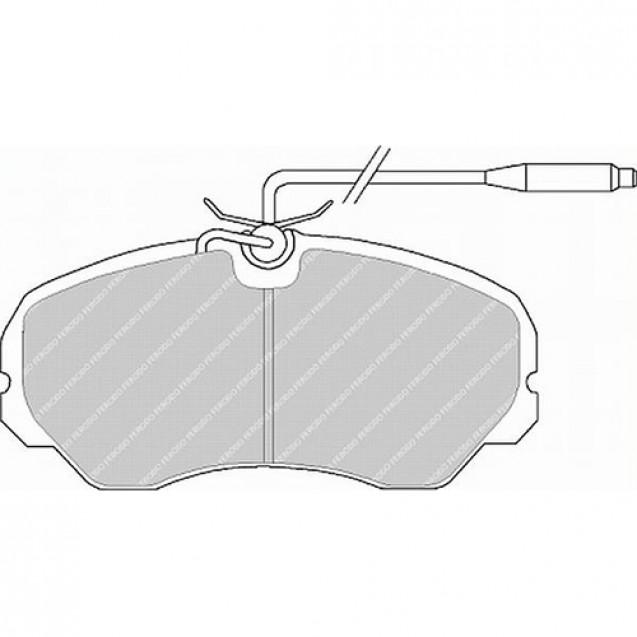 Ferodo Тормозные колодки дисковые/ Fiat Ducato