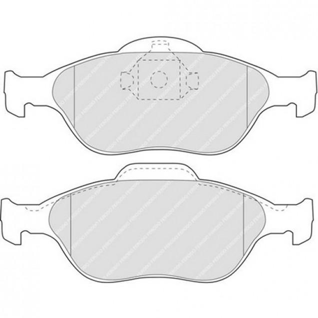 Ferodo Тормозные колодки дисковые/ Ford Fiesta