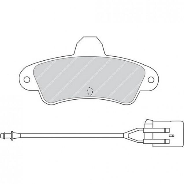 Ferodo Тормозные колодки дисковые/ Ford Mondeo