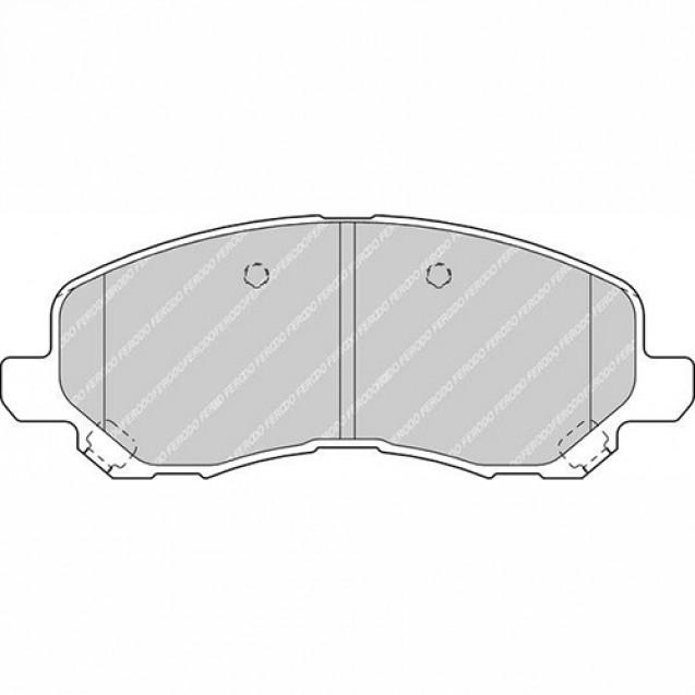 Ferodo Тормозные колодки дисковые/ Mitsubishi Outlander