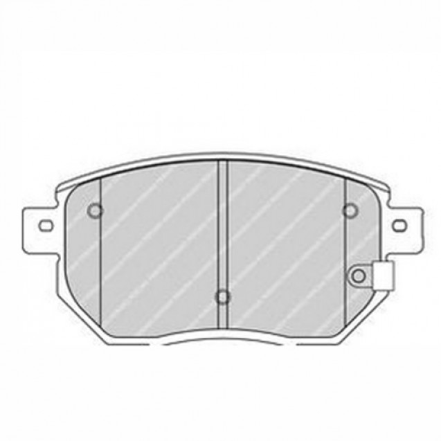 Ferodo Тормозные колодки дисковые/ Nissan Maxima