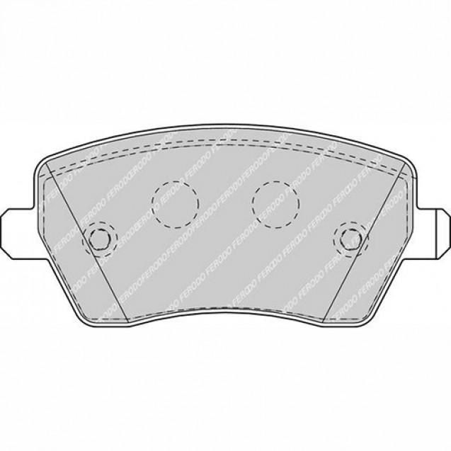 Ferodo Тормозные колодки дисковые/ Nissan Micra