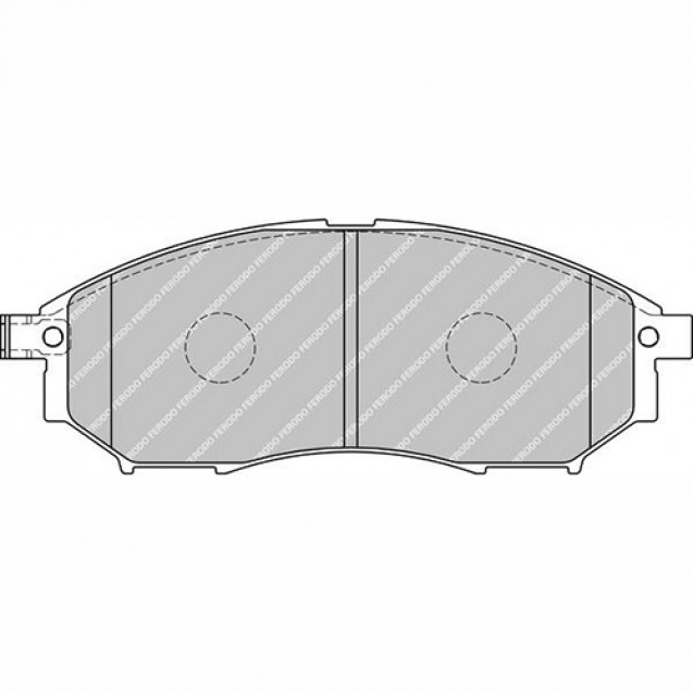 Ferodo Тормозные колодки дисковые/ Nissan Murano