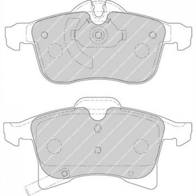 Ferodo Тормозные колодки дисковые/ Opel Astra H