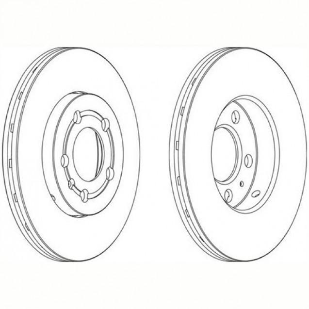 Ferodo Тормозной диск/ Audi A1