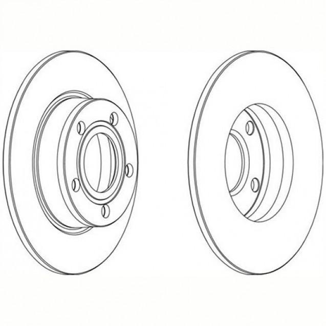Ferodo Тормозной диск/ Audi A6