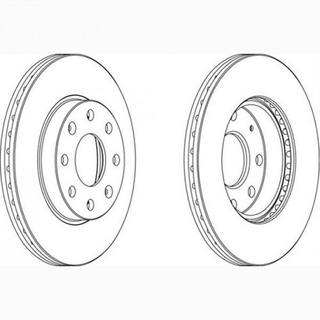 Ferodo Тормозной диск/ Chevrolet Aveo