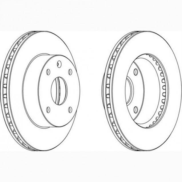 Ferodo Тормозной диск/ Chevrolet Lacetti