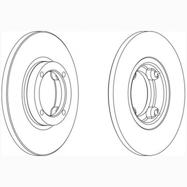 Ferodo Тормозной диск/ DAEWOO Matiz