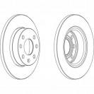 Ferodo Тормозной диск/ Opel Astra F