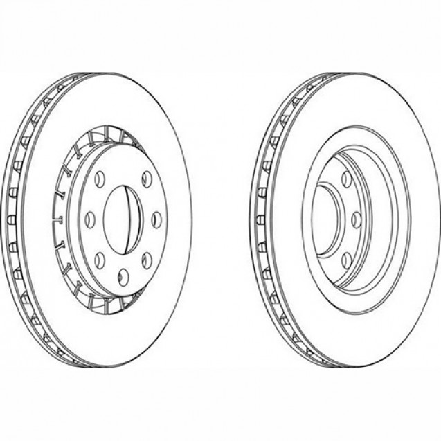 Ferodo Тормозной диск/ Opel Calibra