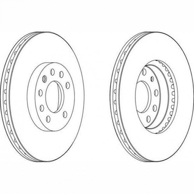 Ferodo Тормозной диск/ Opel Vectra C