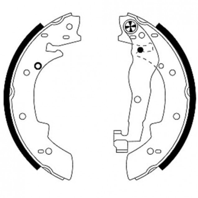 Glober Колодки тормозные барабанные/ BMW 3 (316)