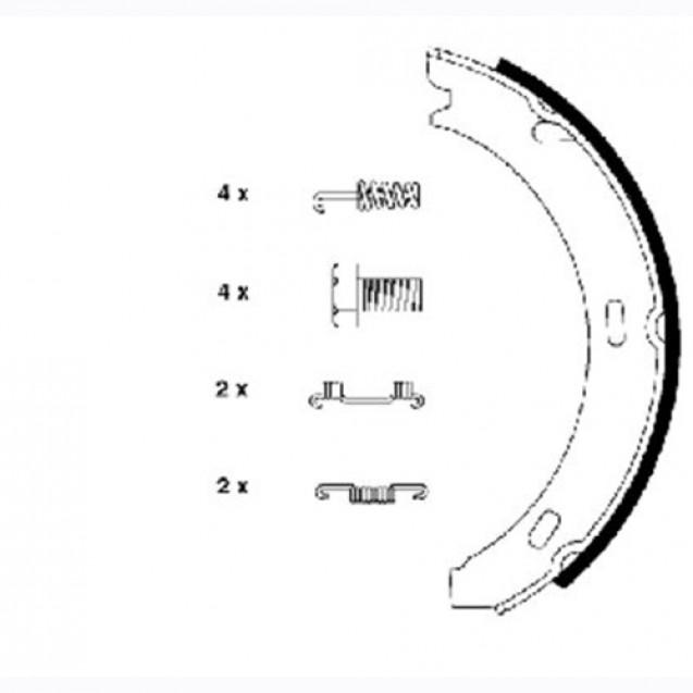 Glober Колодки тормозные барабанные/ Mercedes-Benz 190