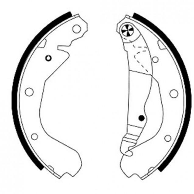 Glober Колодки тормозные барабанные/ Opel Ascona C